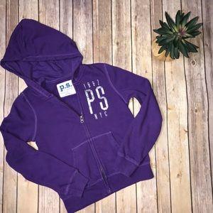 Aeropostale-Purple Zippered Hoodie.